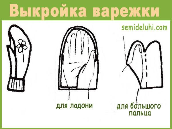 Детские варежки своими руками