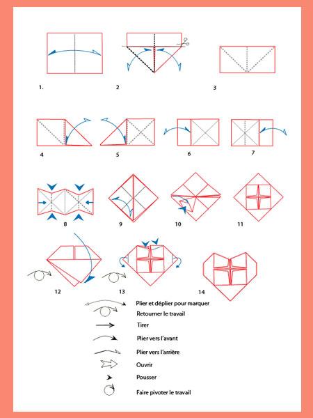 Сделать сердце-оригами по