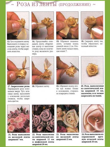 Розы из лент-3