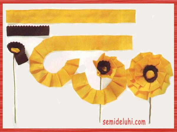 Цветок из ленты для открытки