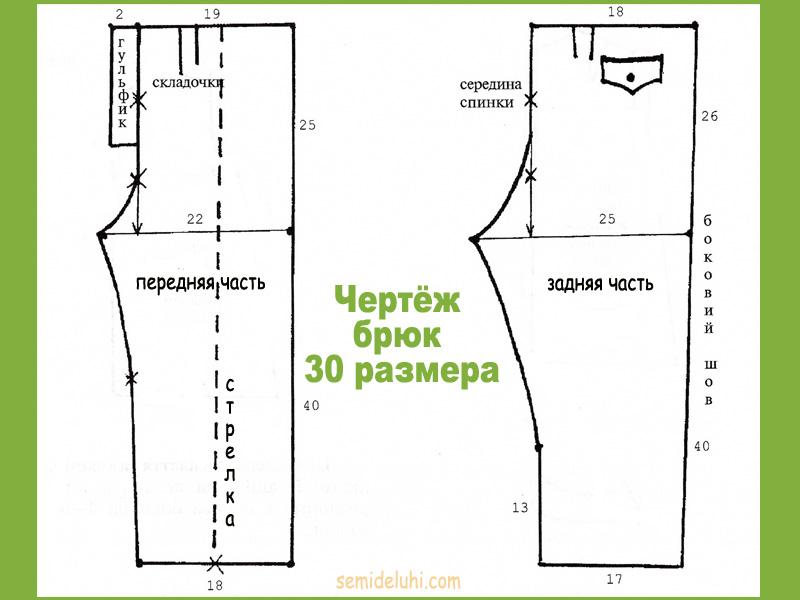Выкройка поясного изделия 30 размера