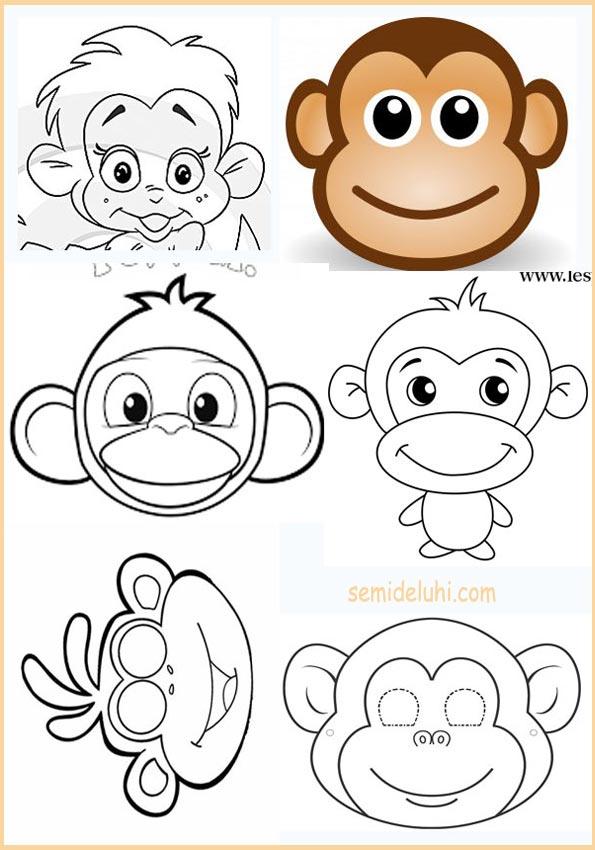 Рисунки обезьянки к Новому году