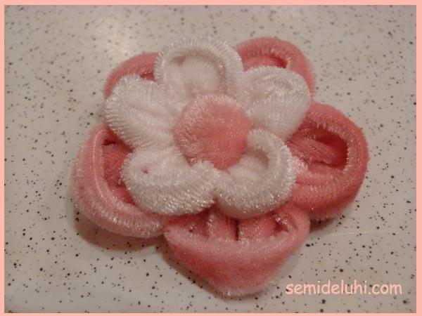 Создание цветка из ткани