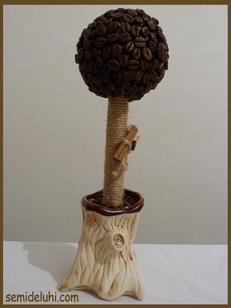 Деревья из кофейных зёрен