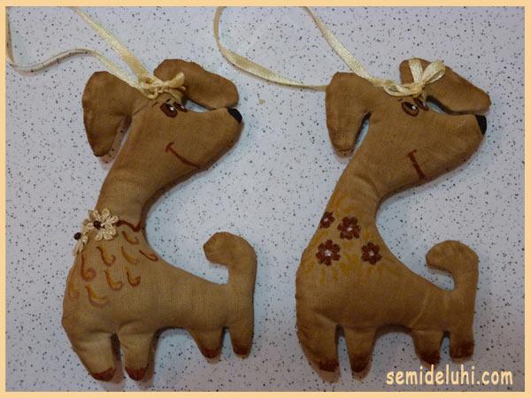 Игрушки из ткани на ёлку